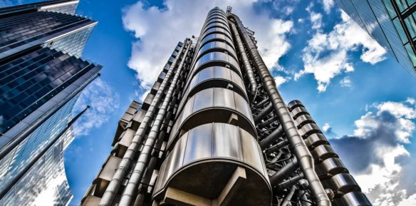 A photo of the Lloyds insurance building in London
